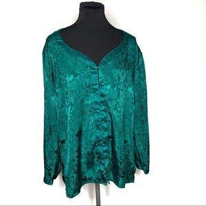 Vintage Victoria's Secret green paisley top